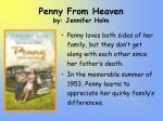 penny from heaven by jennifer holm