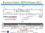 klystron gallery hins tunnel ilc