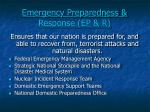 emergency preparedness response ep r