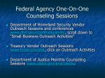 federal agency one on one counseling sessions