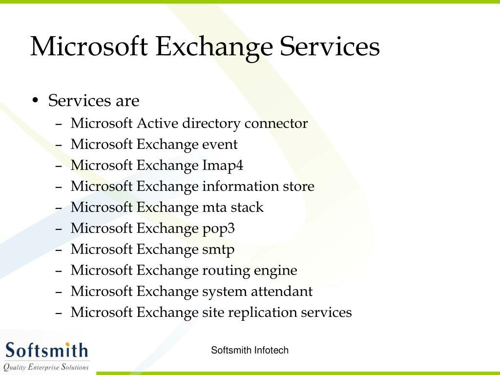 Microsoft Exchange Services