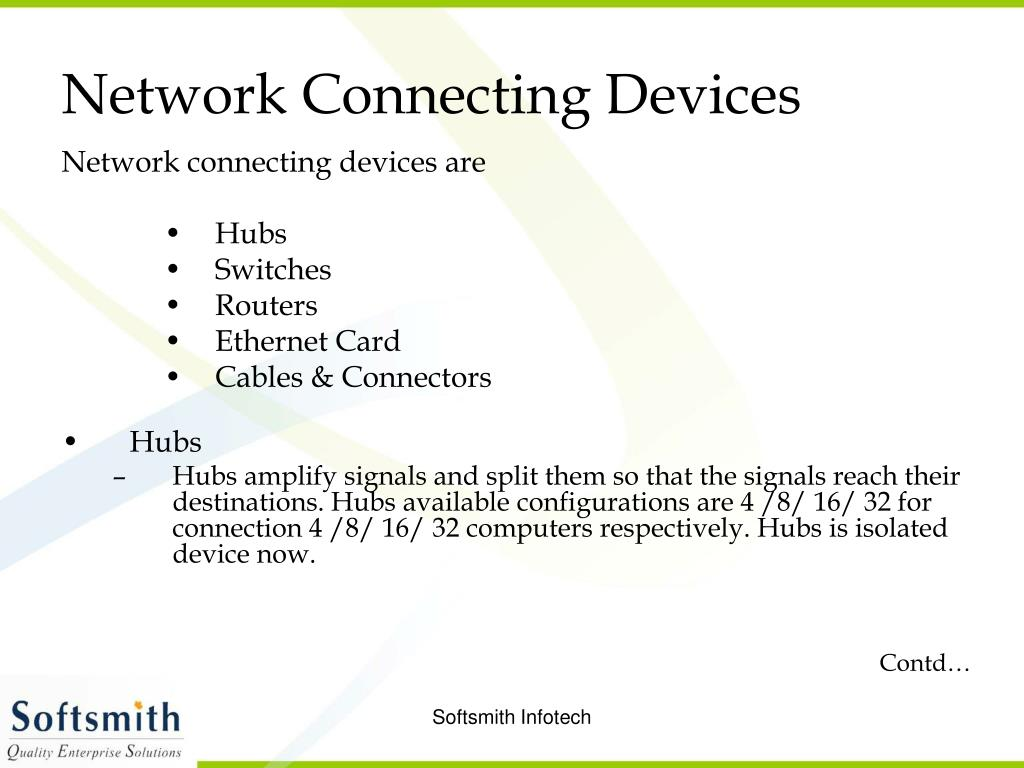 Network Connecting Devices