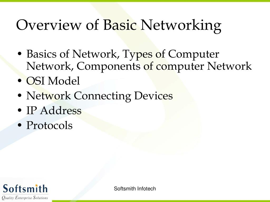 Overview of Basic Networking