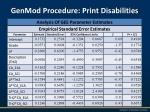 genmod procedure print disabilities