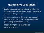 quantitative conclusions