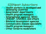 signpost subscribers