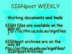 signpost weekly1