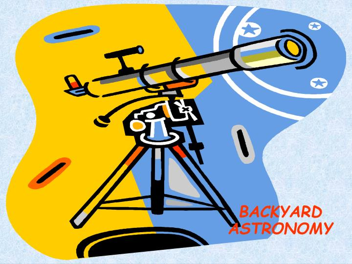 backyard astronomy n.
