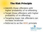 the risk principle