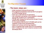 the migration process