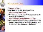 uq exchange links