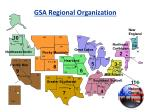 gsa regional organization