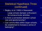 statistical hypothesis three continued2