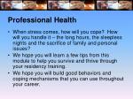 professional health