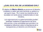 cu l es el rol de la sociedad civil