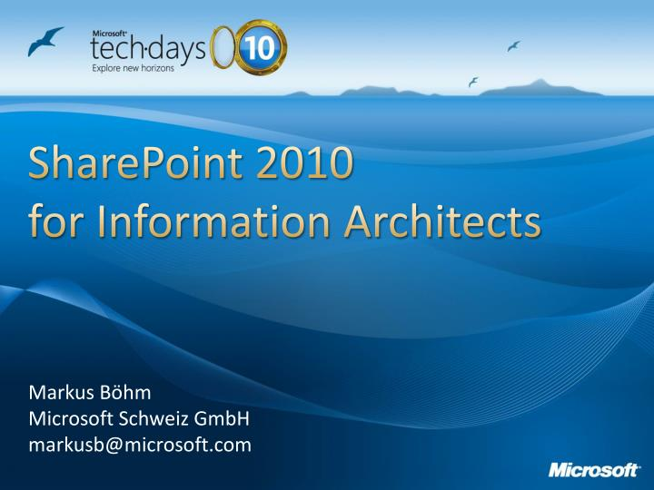 sharepoint 2010 for information architects n.