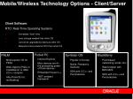 mobile wireless technology options client server33