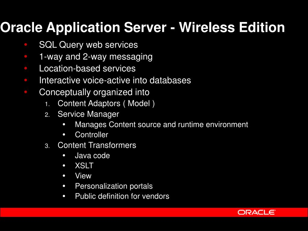 Oracle Application Server - Wireless Edition