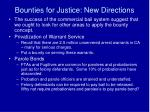 bounties for justice new directions