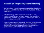 intuition on propensity score matching