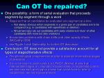 can ot be repaired