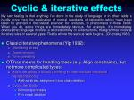 cyclic iterative effects1