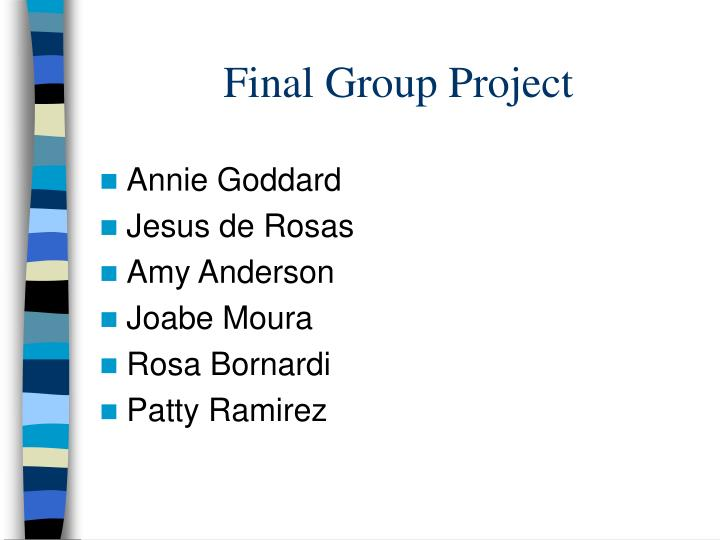 final group project n.
