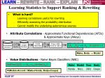 learning statistics to support ranking rewriting