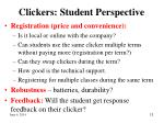 clickers student perspective