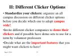 ii different clicker options