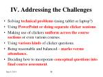 iv addressing the challenges