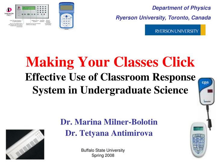 making your classes click effective use of classroom response system in undergraduate science n.