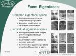 face eigenfaces