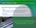 lanier technical college green initiatives programs