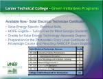 lanier technical college green initiatives programs1