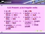 5 21 present a au irregular verbs