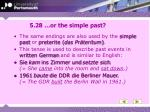 5 28 or the simple past