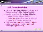 5 42 the past participle