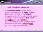 5 49 the pluperfect tense