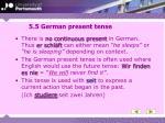5 5 german present tense