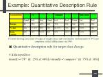 example quantitative description rule