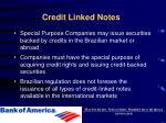 credit linked notes
