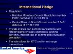international hedge