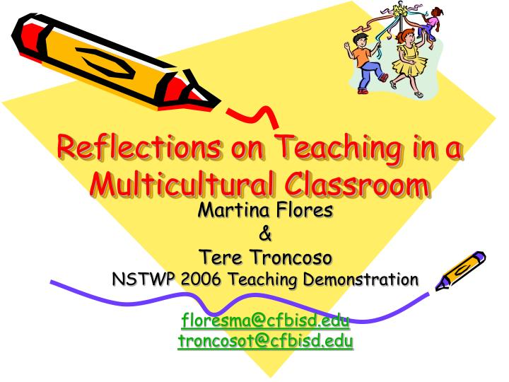 reflections on teaching in a multicultural classroom n.