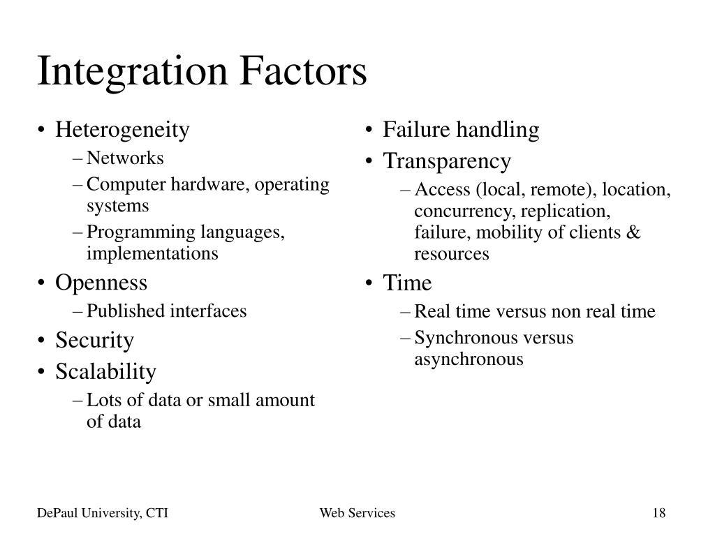 Integration Factors