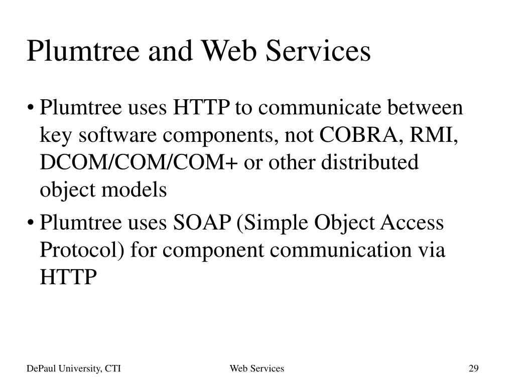 Plumtree and Web Services