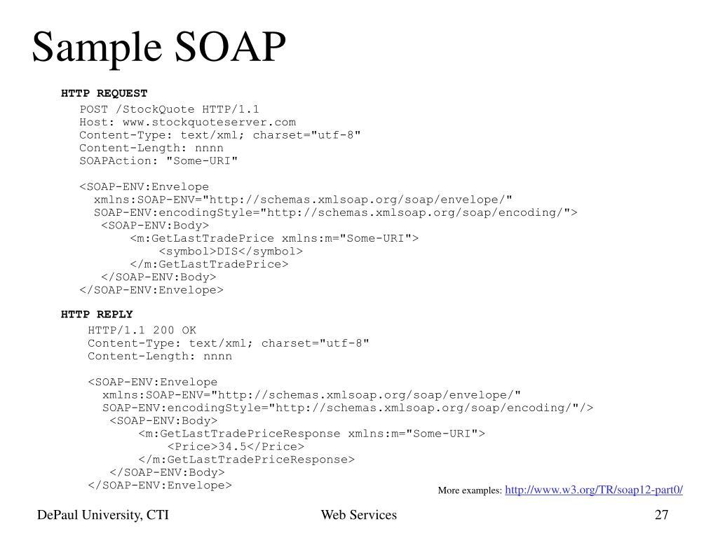 Sample SOAP