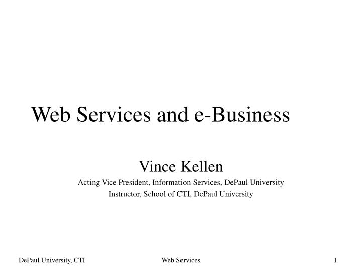 Web services and e business
