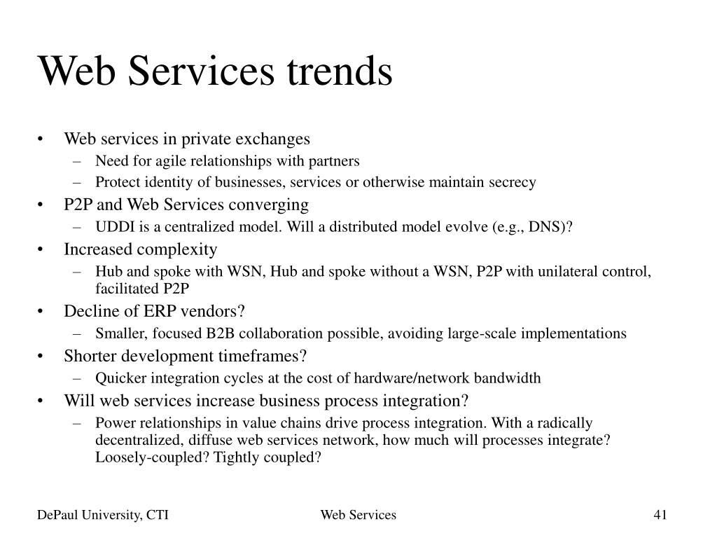 Web Services trends