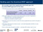 building upon the accenture wsp approach